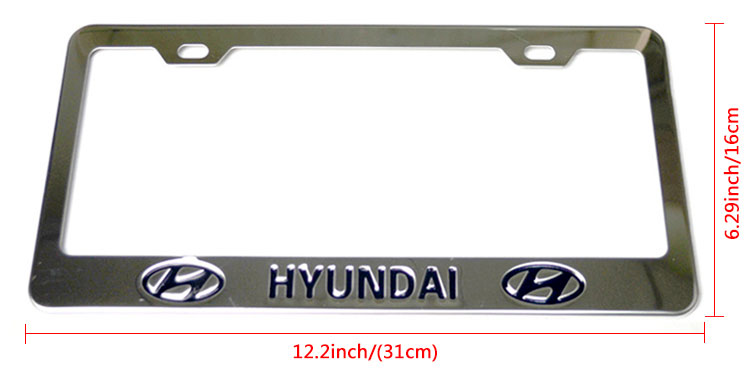 Wholesale pure gray license plate frames