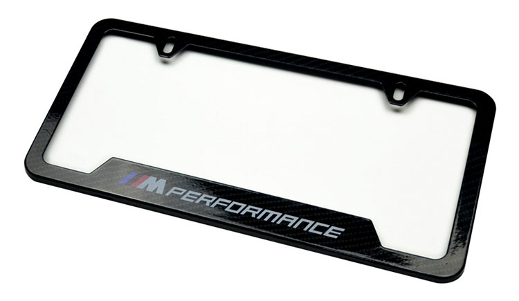high end black license plate frames