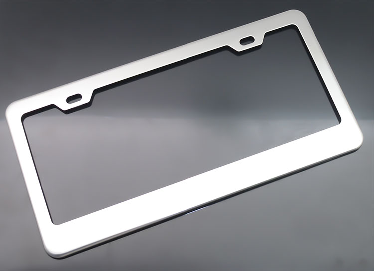 White Toyota license plate frame factory