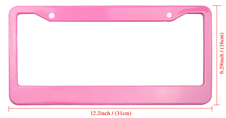 Personalized license plate frame wwith pink colour