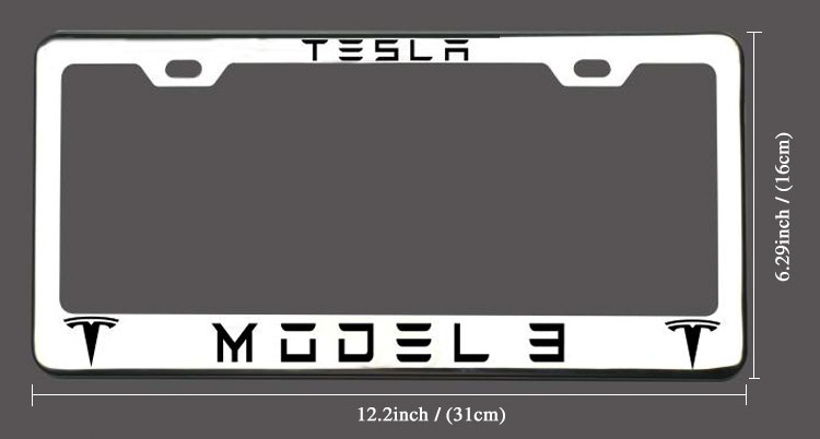 Tesla license plate frame with reasonable price