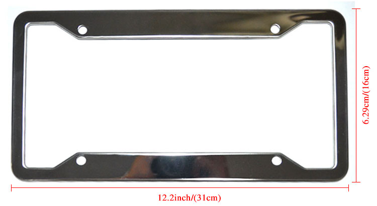 Blank license plate frames supplier